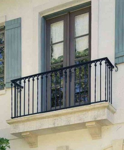 This color scheme. wrought iron railing small arch detail