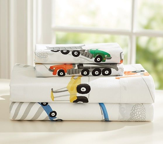 construction sheet set pottery barn kids 89 full - Kid Sheets