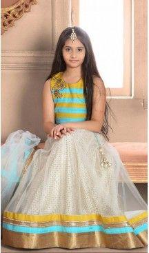 Sky Blue Color Bhagalpori Silk Fabric Readymade Kids Girl Lehenga Choli   FH00031027 ---> Follow us @heenastyle  <----  ---  #kidsgowns #kidswear #gownstyle #allthingsbridal #bridalsuits #ethnicfashion #celebrity #bollywooddesigns #bollywoodsuits #partywear #collection #wedding #womenswear #kuwait #luxerydress #princess #kidsdesigner #robedeprincesse #anniversaireenfant #vestitibambini #Turkey #istanbul #couturekidsclothes #kidstrends #heenastyle