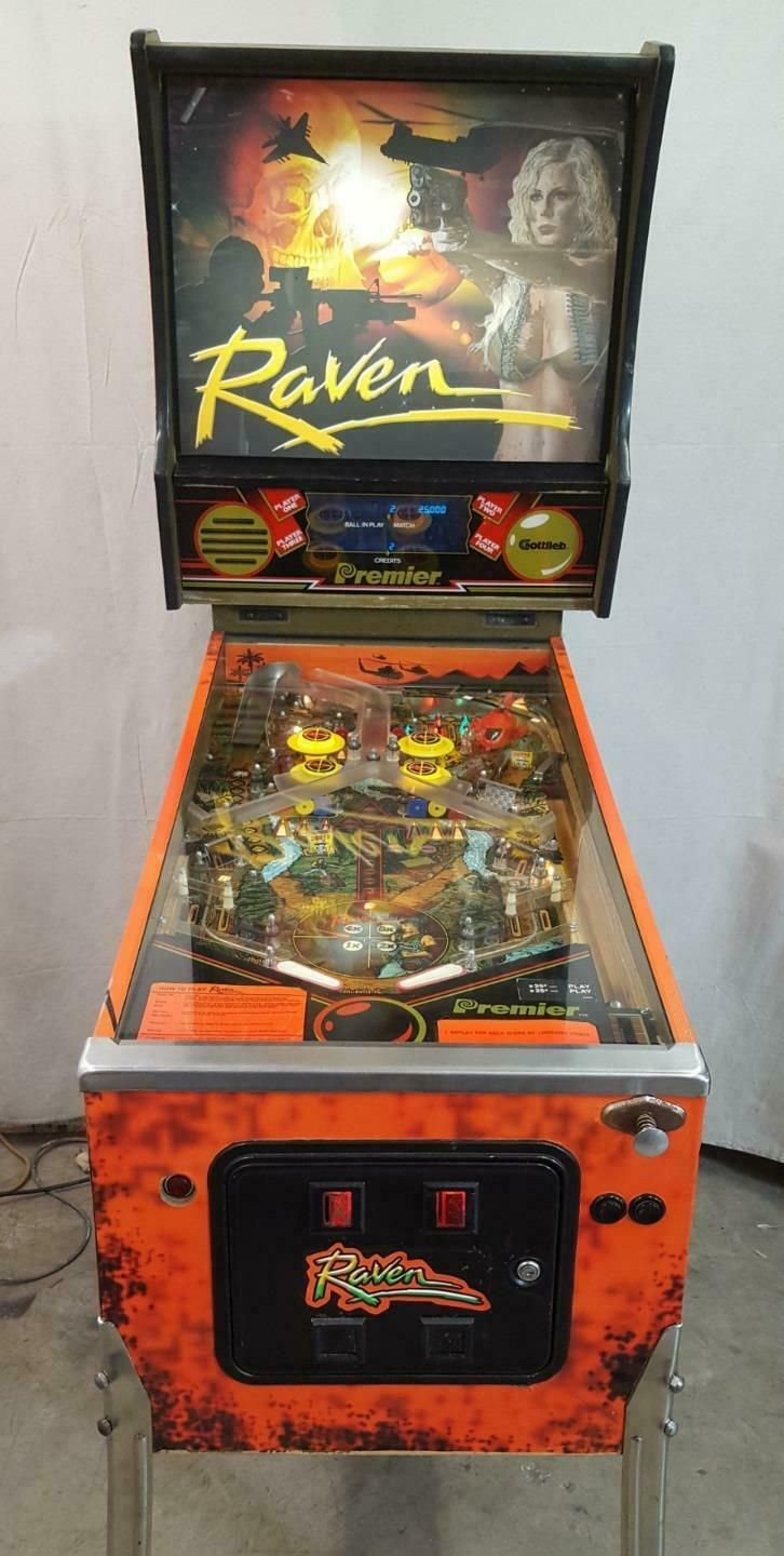 Raven by Gottlieb COIN-OP Pinball Machine Sexy Girl | Pinball