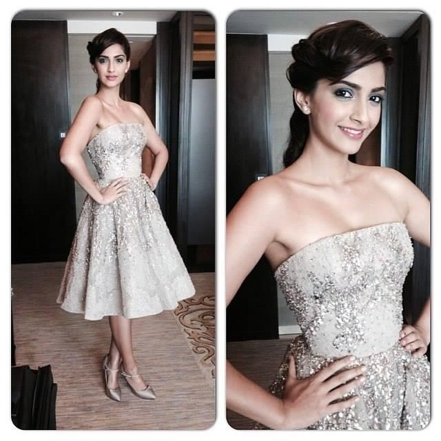 Sonam Kapoor at an event launching the latest make-up collection of LOral Paris for the Festival de Cannes 2014   PINKVILLA Cannes Film Festival, Film Market and Short Film Corner 2014 - http://www.cloud21.com/2/cannes-film-festival-2014