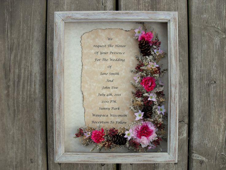 Wedding Invitation Frames: Best 25+ Framed Wedding Invitations Ideas On Pinterest