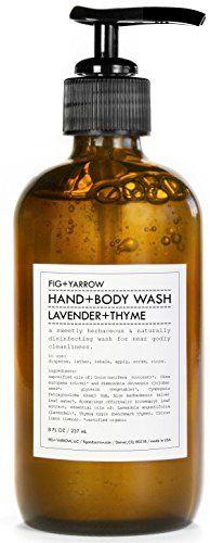 FIG+YARROW - Organic Hand+Body Washes (Lavender+Thyme) - http://essential-organic.com/figyarrow-organic-handbody-washes-lavenderthyme/