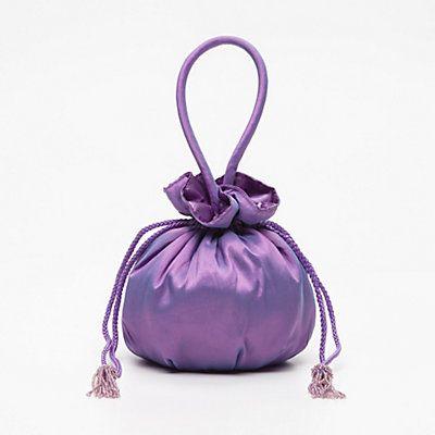 Sac bourse violet 18 x 18 x 12 cm