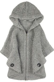 Stella McCartney Oversized chunky knit cape NET-A-PORTER.COM: Stella Mccartney, Fashion, Style, Mccartney Oversized, Chunky Knits