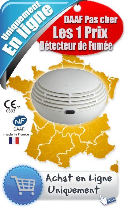 Détecteur de fumée pour particulier - DAAF NF - CE 14604 - Spécial habitation. L'installation d'un détecteur de fumée doit permettre : de détecter les fumées émises dès le début d'un incendie - Prix en ligne à 38.00 €uro HT
