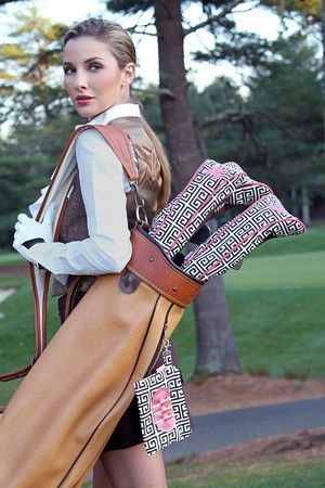 Chic and colorful headcovers from Ame & Lulu golf fashionable!  It's about more than golf, boating, and beaches; it's about a lifestyle!  www.pamelakemper.com KW
