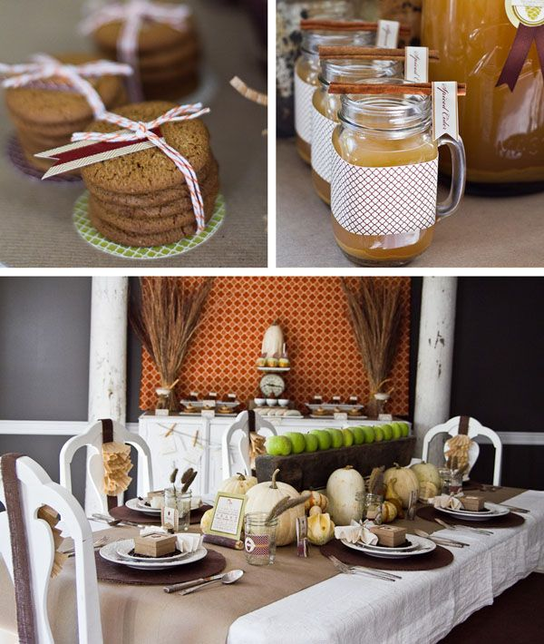 A Modern & Inviting Fall Harvest Party // Hostess with the Mostess®