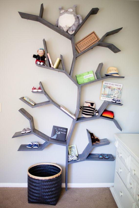 diy shelves in form of a tre - Google-søk