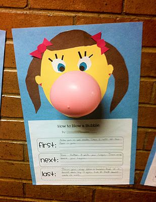 Unit 4 Week 5 - How to blow a bubble-- writing and
