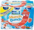 Nestle Munch Bunch Drinky   Strawberry (6x90g) Cheapest in Tesco Today! On Offer Compare Prices at mySupermarket: Tesco (pound