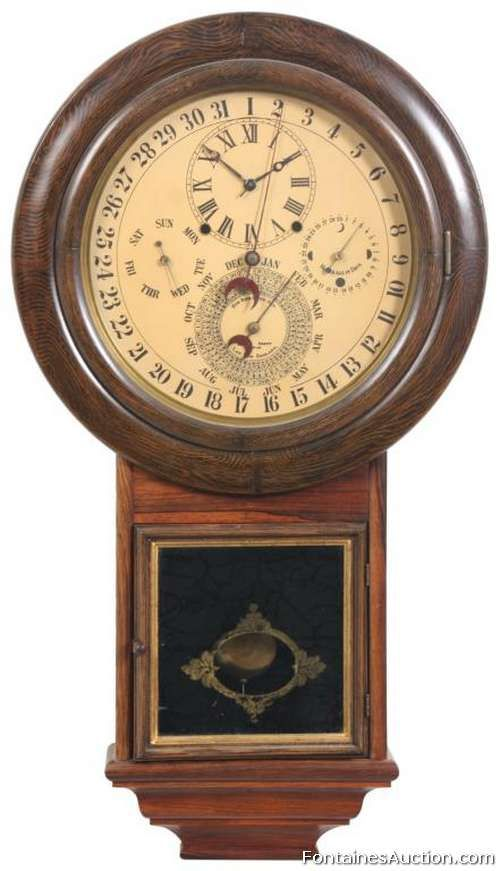 Gale Drop Calendar No. 2 Clock - LOT 131 Estimate: $1000 - $1500 - Antiques by John Fontaine's Auction