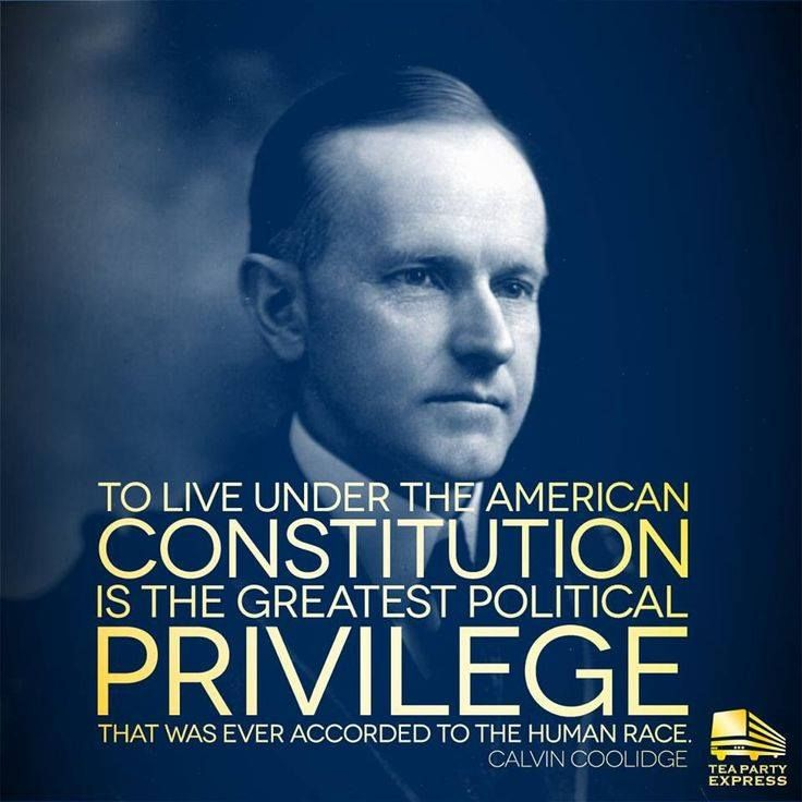 The constitution is not only a privilege but it was given by our