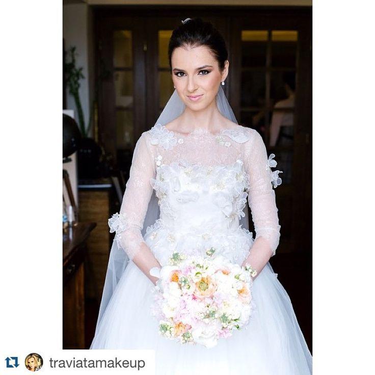 Happy bride! #parlordress #parlorbride