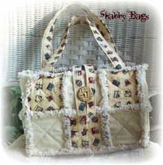 pattern for rag purse   MAKE YOUR OWN RAG QUILT PURSE BAG TOTE PATTERN INSTRUCTIONS