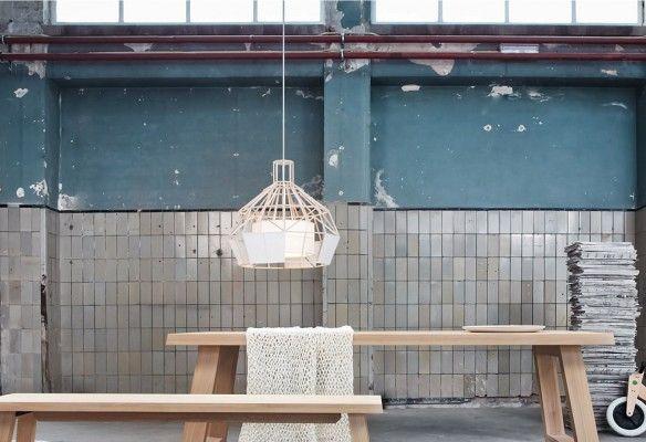 Leading Lights - Dutch designer Daniel Hulsbergen - wooden lamp