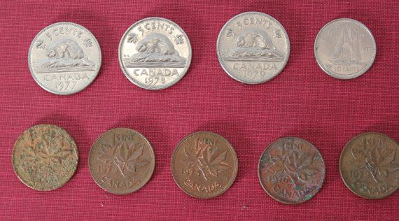 Circulated Vintage Canadian Coin Starter by VariedTreasureFinds