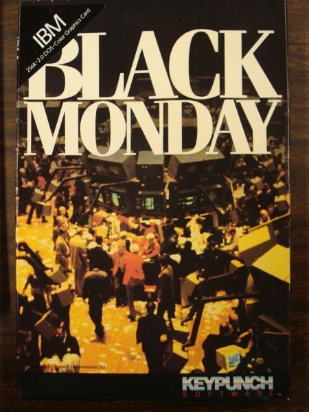 New York stock exchange suffers huge drop on Black Monday, 1987