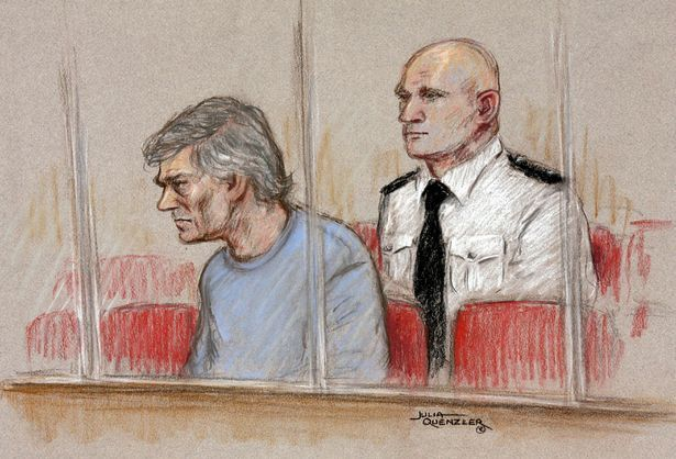 Court artist drawing of Peter Tobin