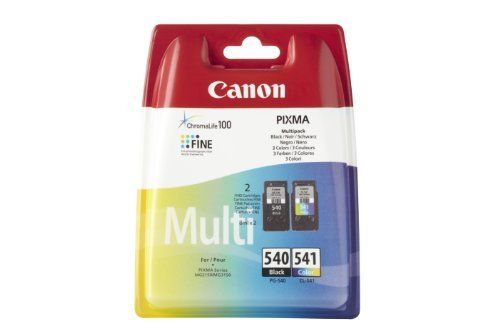 Canon PG-540 & CL-541 Cartouches d'encre d'origine Pack de 2 Noir, Tricolore: Type : jet d'encre Réf.fabricant : 5225B006AA N° fabricant :…