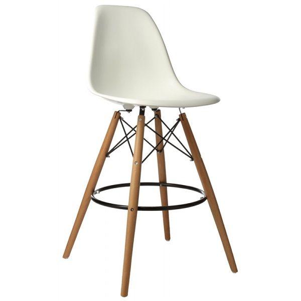 Tabouret Eames DSW Style 89€, assise à 67,5cm