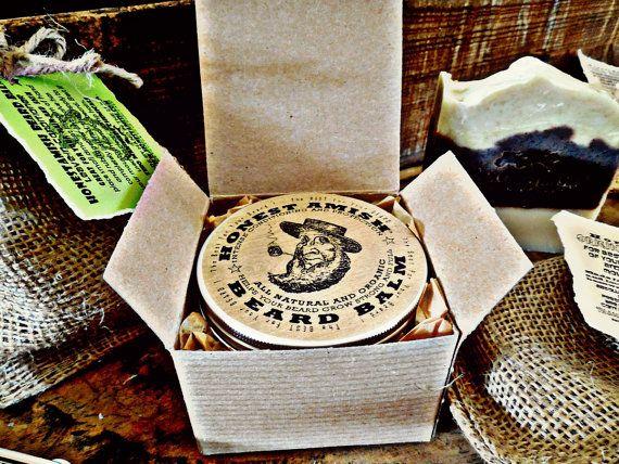 Honest Amish Beard Balm 4 OUNCE TIN Big Natural by HonestAmish