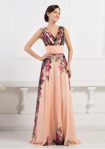 vestido de festa importado floral, madrinha, formatura