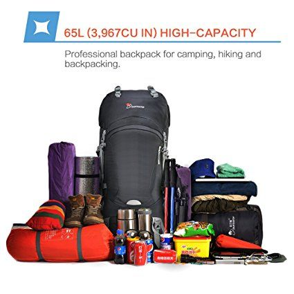 Amazon.com   Mountaintop 65L Outdoor Hiking Backpack Camping Backpack  Internal Frame Bag f04abf3795135