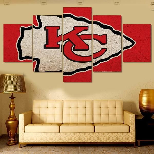 Kansas Chiefs 5 Piece Canvas Painting - (FREE SHIPPING)