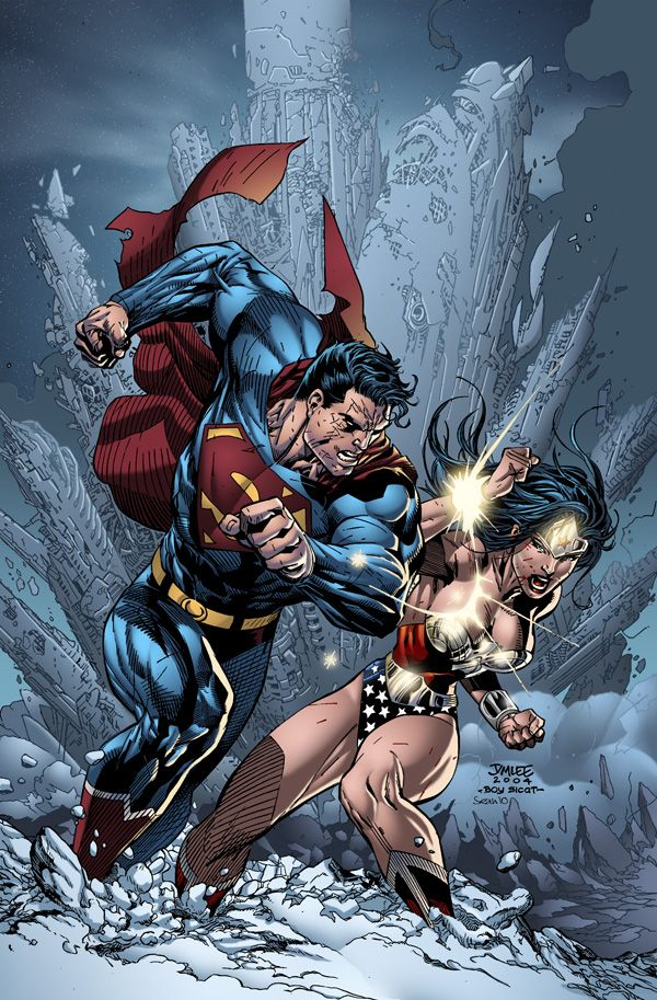 Superman is not one of my fav's, only WW!!!!     superman - jim lee by SeanE.deviantart.com