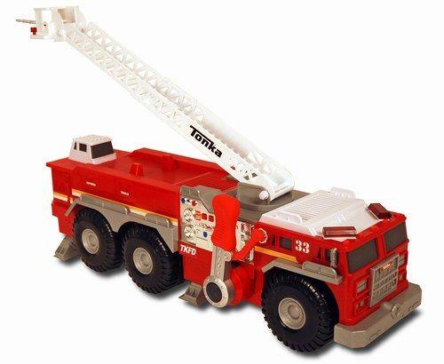 Camion de pompier Tonka #Cadeauxdenoël #enfant #Idéescadeaux #Noël #Rouge #Jouet #Red #Truck #Christmas #Present #Boys