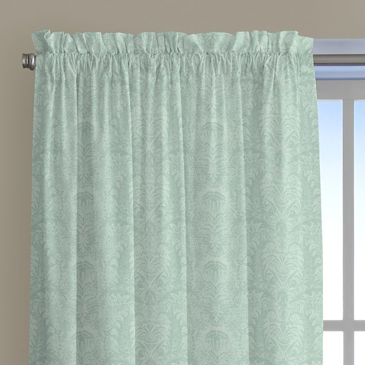 Damask Tropical Window Treatment