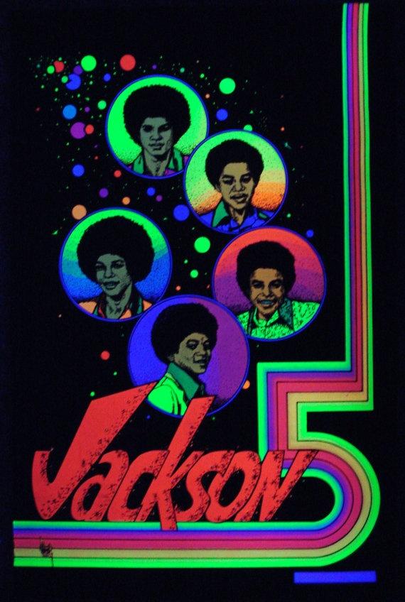 Vintage 1960s~SAN MEZCALITO~R Griffin BLACKLIGHT Poster