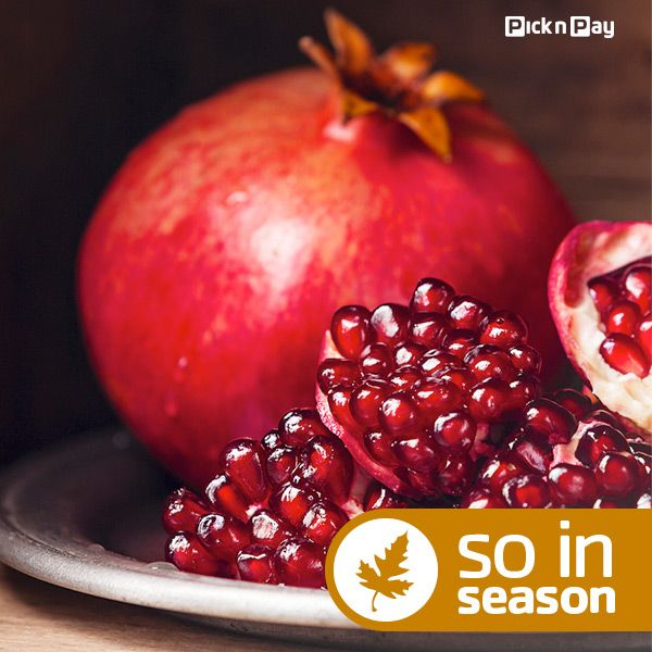 Stock up on in-season #pomegranates from #PnP now! #picknpay #freshliving