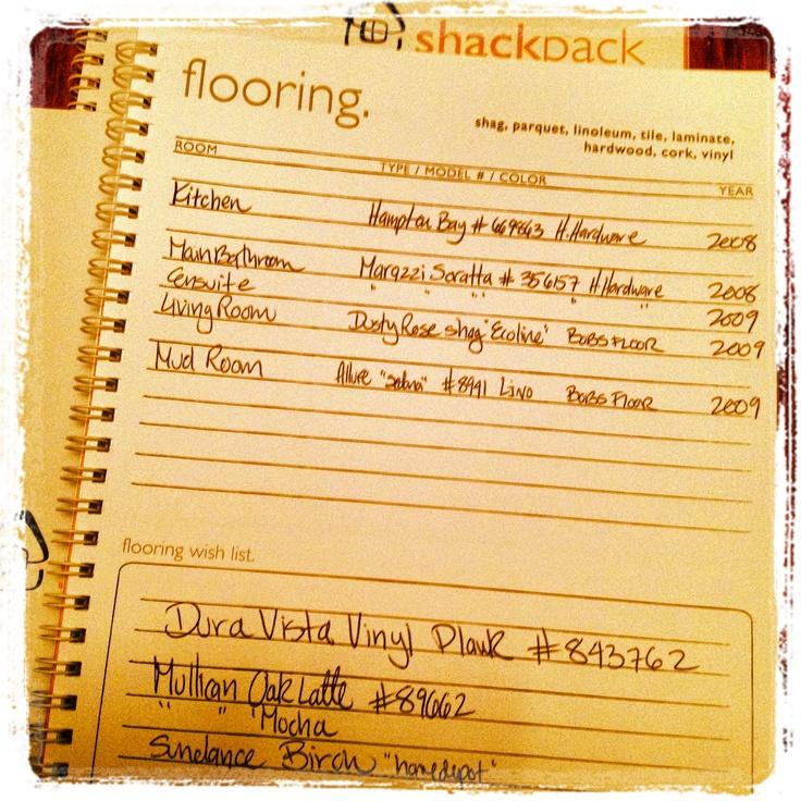 Home Reno  Flooring journal Shackpack.net