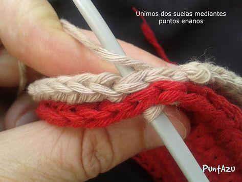 SANDALI stivaletti | PuntAzu | Chinelos de crochê