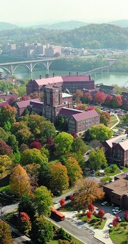 Aerial view of the University of Tennessee