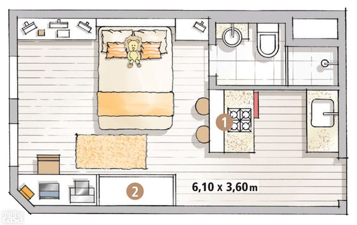 22 m² para vivir y trabajar !!!