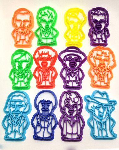 Doctor's 1-12 from Doctor Who Cookie Cutter Set – WarpZone Prints