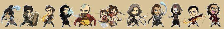 Chibi form ~ the Legend of Korra - whole cast