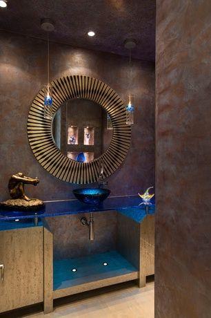 Art Deco Jauhe Huoneen äärimmäiselle Destello Gold Starburst Mirror, Flush,  Laminaattilattia, Alus Uppoaa