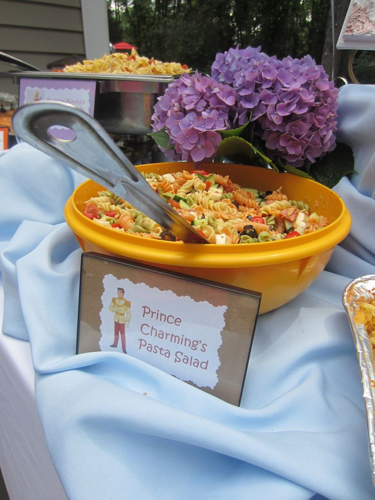 Princess (and Prince!) Themed Food Signs for a Princess Birthday Party