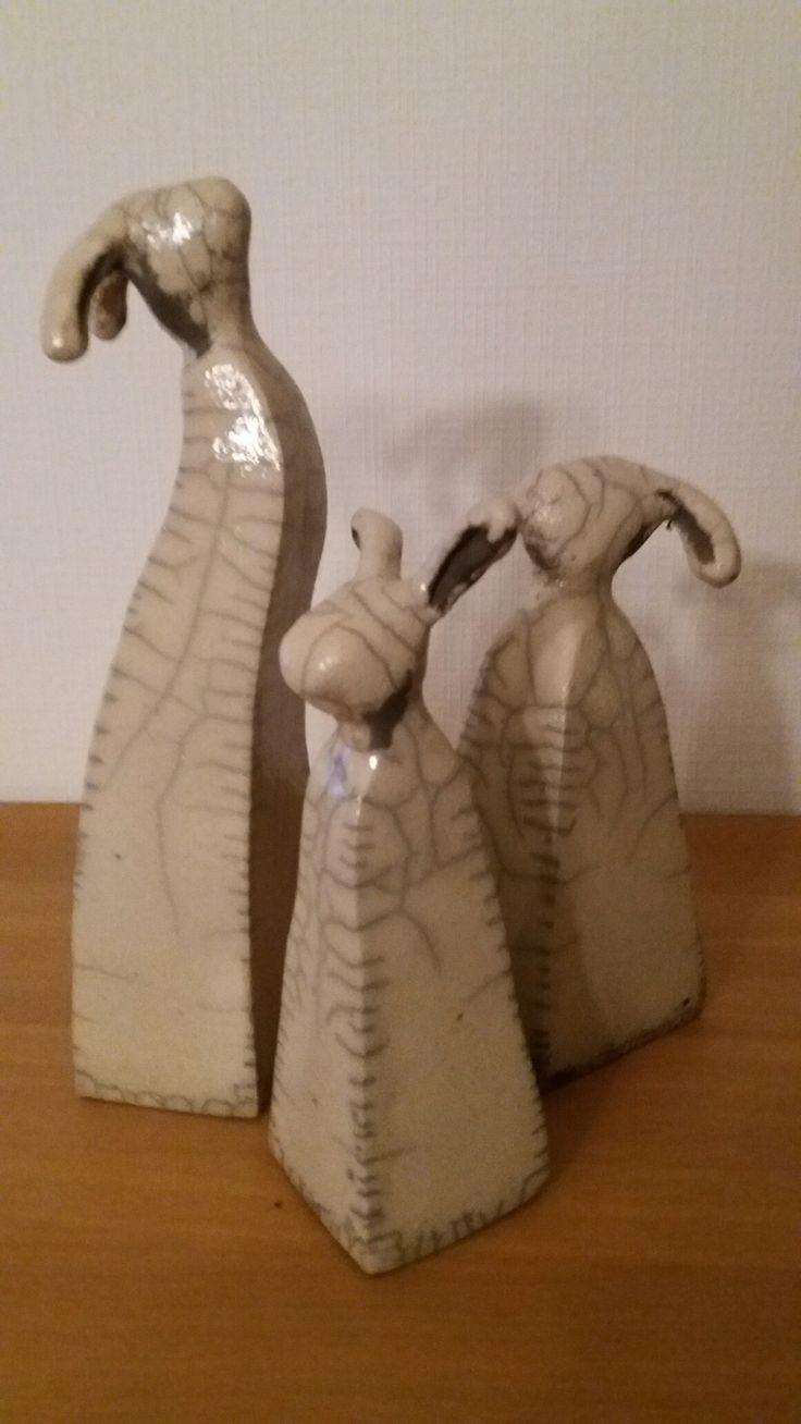 konijntjes in rakuklei en rakugestookt bij Halil