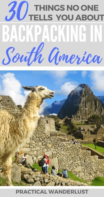 From guard llamas in Ecuador to mercado cats in Chile, 30 things no one tells you before backpacking in South America. We spent 4 months backpacking in Colombia, Peru, Ecuador, Chile, and Argentina!