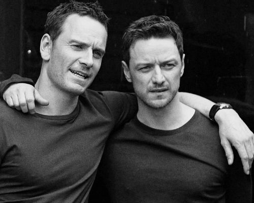James McAvoy and Michael Fassbender I've died, and gone to heaven.