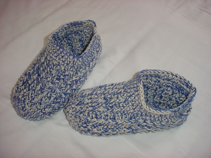 Men's Crochet Slipper Pattern | like the fact that you dont have to make separate soles and stitch ...