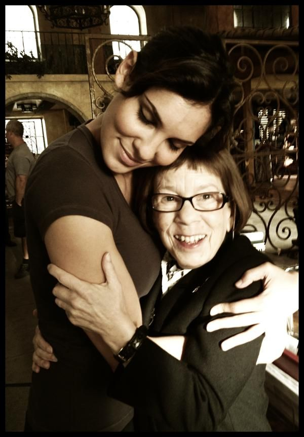 WHAT A GREAT PICTURE ON SET OF NCIS:LA:Linda Hunt with Daniela Ruah - NCIS LA :)