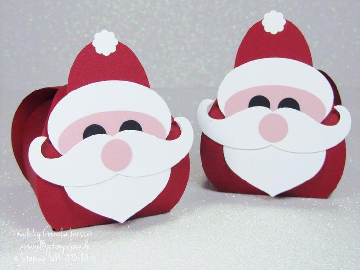 Einen Nikolaus mit Punch Art und der Stanze Zierschachtel für Andenken von Stampin' UP!. Eine schnelle Geschenkidee als kleines Mitbringsel oder Goodie.