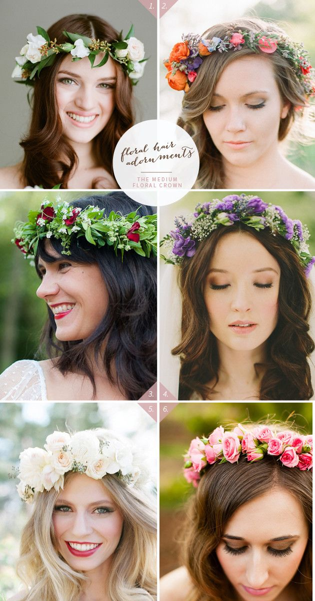 46 Romantic Wedding Hairstyles with Flower Crown DIY Tutorials | http://www.deerpearlflowers.com/46-romantic-wedding-hairstyles-with-flower-crown-diy-tutorials/