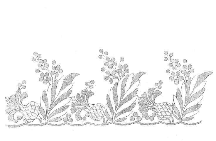 1814 Regency Needlework Pattern 9 Sept 1814
